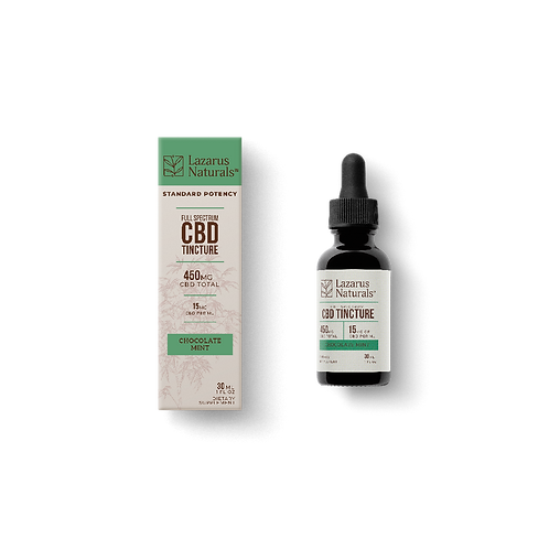 Chocolate Mint Flavored Full Spectrum CBD Tincture 450mg