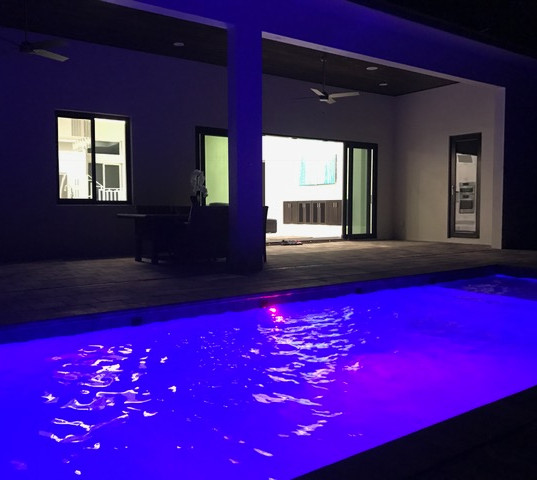 Canton St.- Pool at Night
