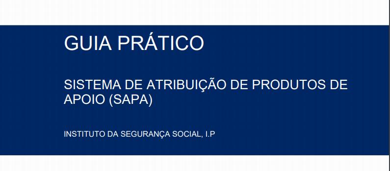 Capa do guia prático do Sistema de atribuição de produtos de apoio