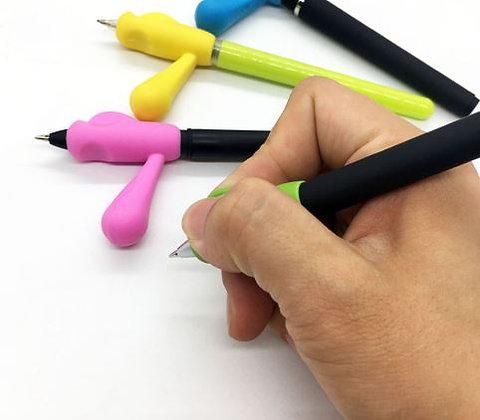 Auxiliar de escrita com uma pega