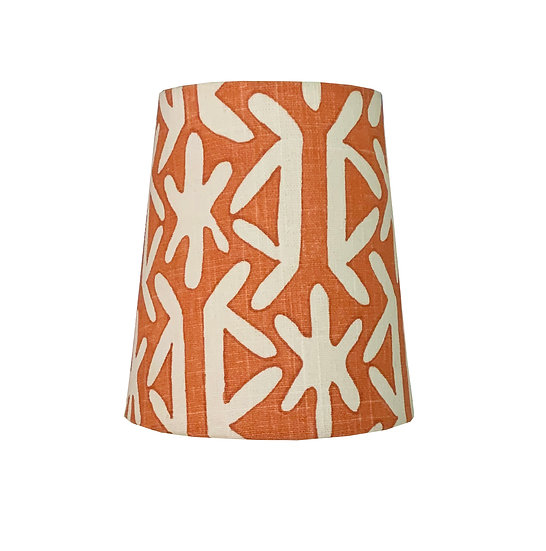 Orange and White Tribal Candle Clip Shades
