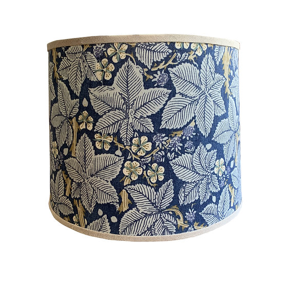 Navy and Taupe Floral Tapered Shade