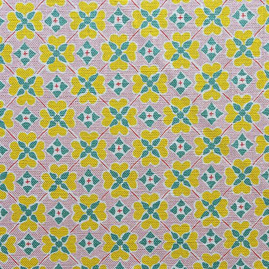 Flora - Natural Base Cloth Textile Sample
