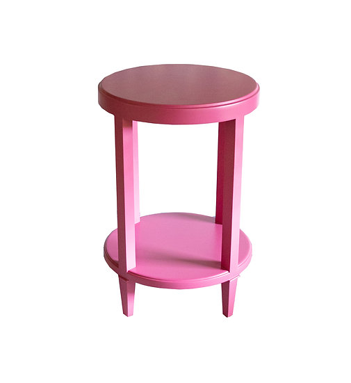 Matt Pink Round Side Tables