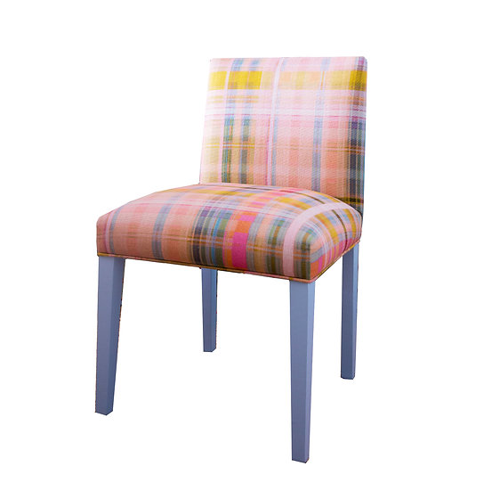 Tattie Tartan Upholstered Dining Chair (Eight available)