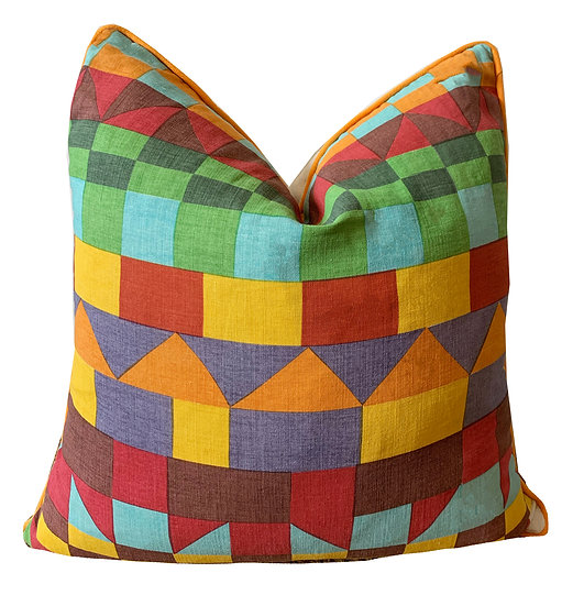 Multi-coloured Geometric Scatter Cushions