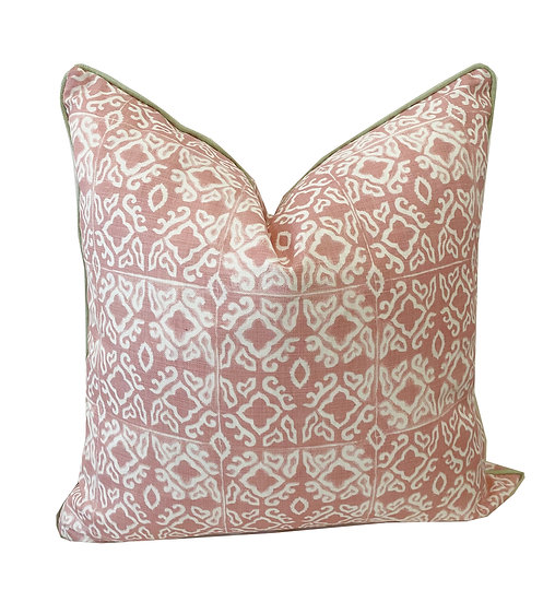 Nihi Shell Green Piping Scatter Cushion