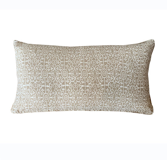 White and Taupe Scatter Cushions