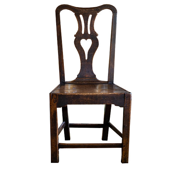 Traditional Antique Oak Georgian Side Dining Chair