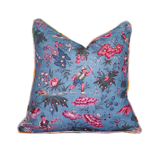 Floral and Tattie Tartan Scatter Cushion