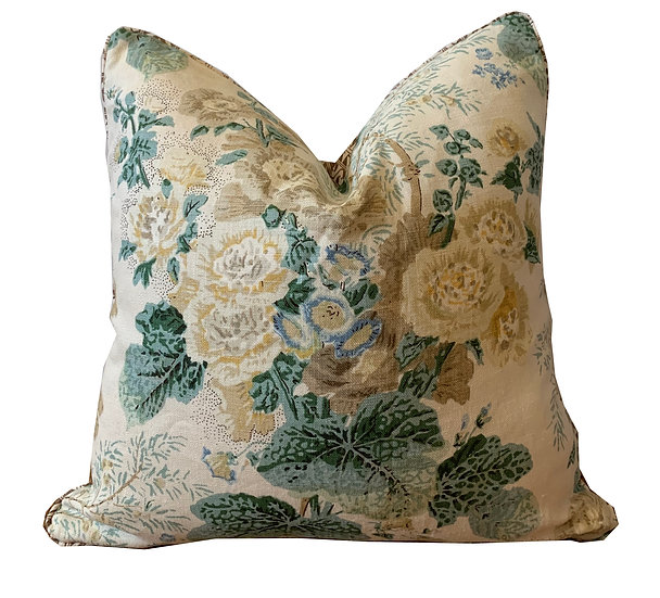 Vintage Floral and Brown Geometric Scatter Cushion