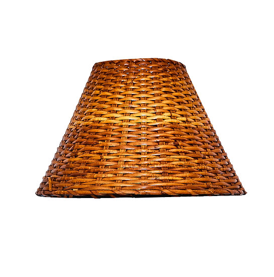 Vintage Tapered Rattan Lampshade