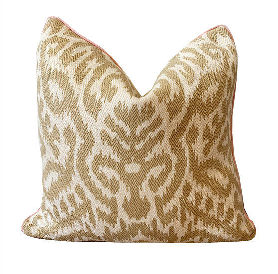 Taupe Ikat Scatter Cushion
