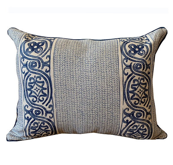 Blue Cartouche Scatter Cushion