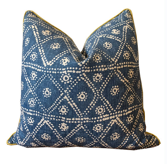 Blue and White Tribal Print Scatter Cushions