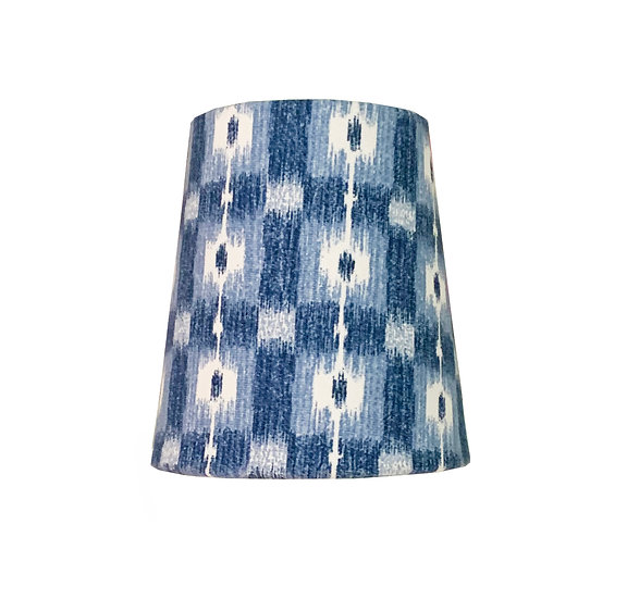 Blue and White Candle Clip Shade
