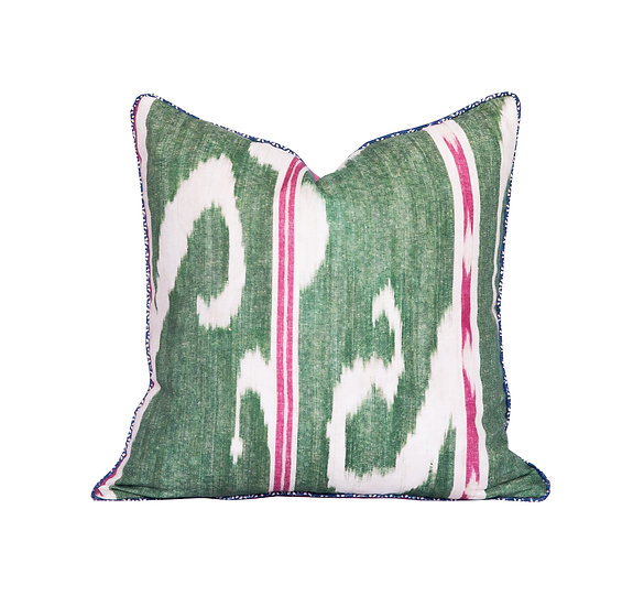 Ikat and Floral Scatter Cushion