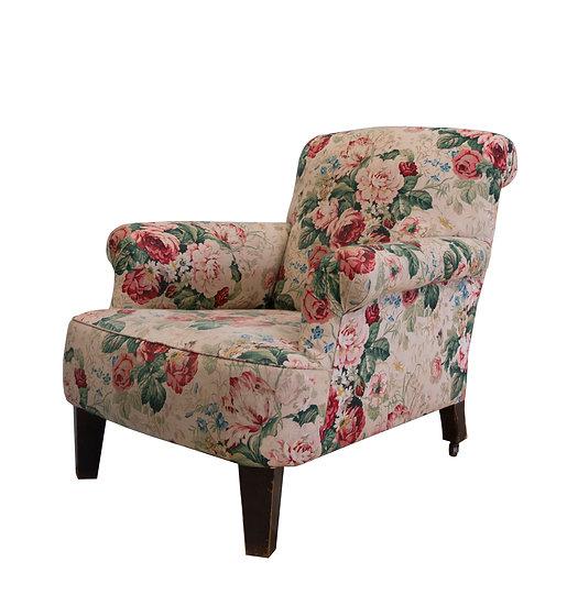 Vintage Armchairin Original Floral Upholstery
