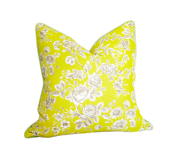 Chloe Yellow and Otto Blue Scatter Cushion