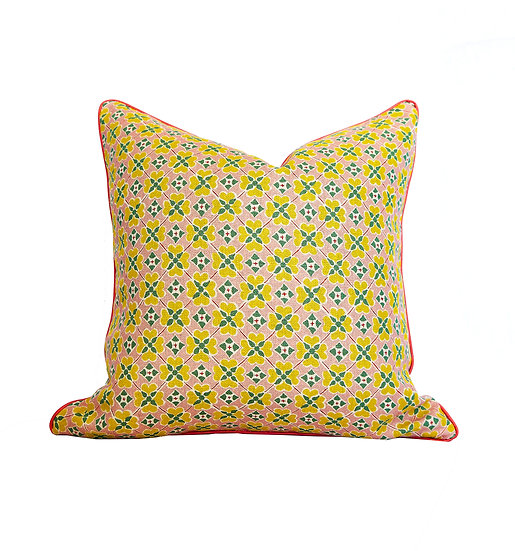 Flora Spring and Green Leaf Scatter Cushion