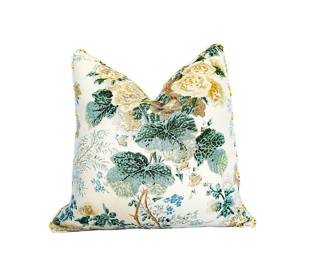 Flora Saffron and Floral Scatter Cushion