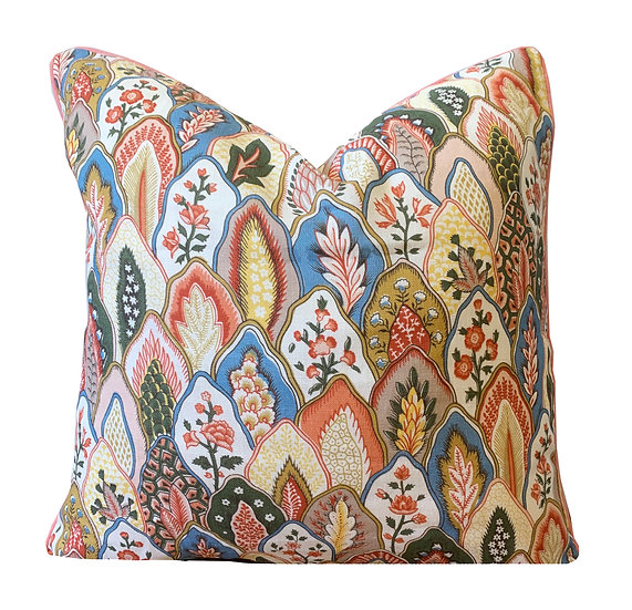 Soft multi-coloured Floral Scatter Cushion