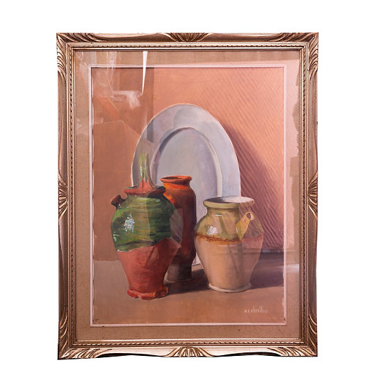 Large Vintage Still Life Painting