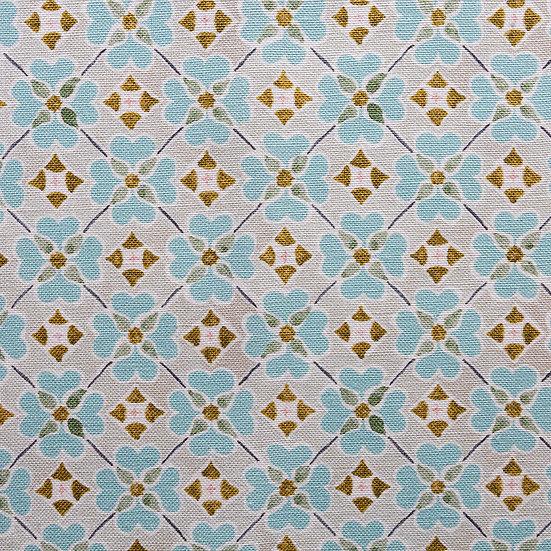 Flora - Oyster Linen Textile Sample