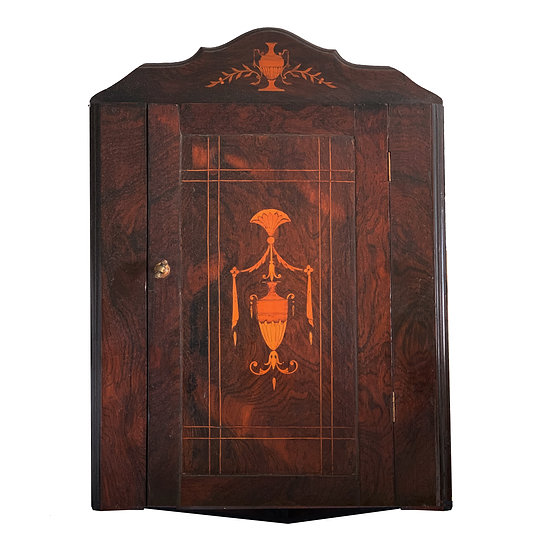 Antique Wall Mounted Corner Cupboard