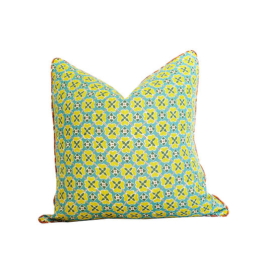 Flora Zing and Multi Stripe Scatter Cushion