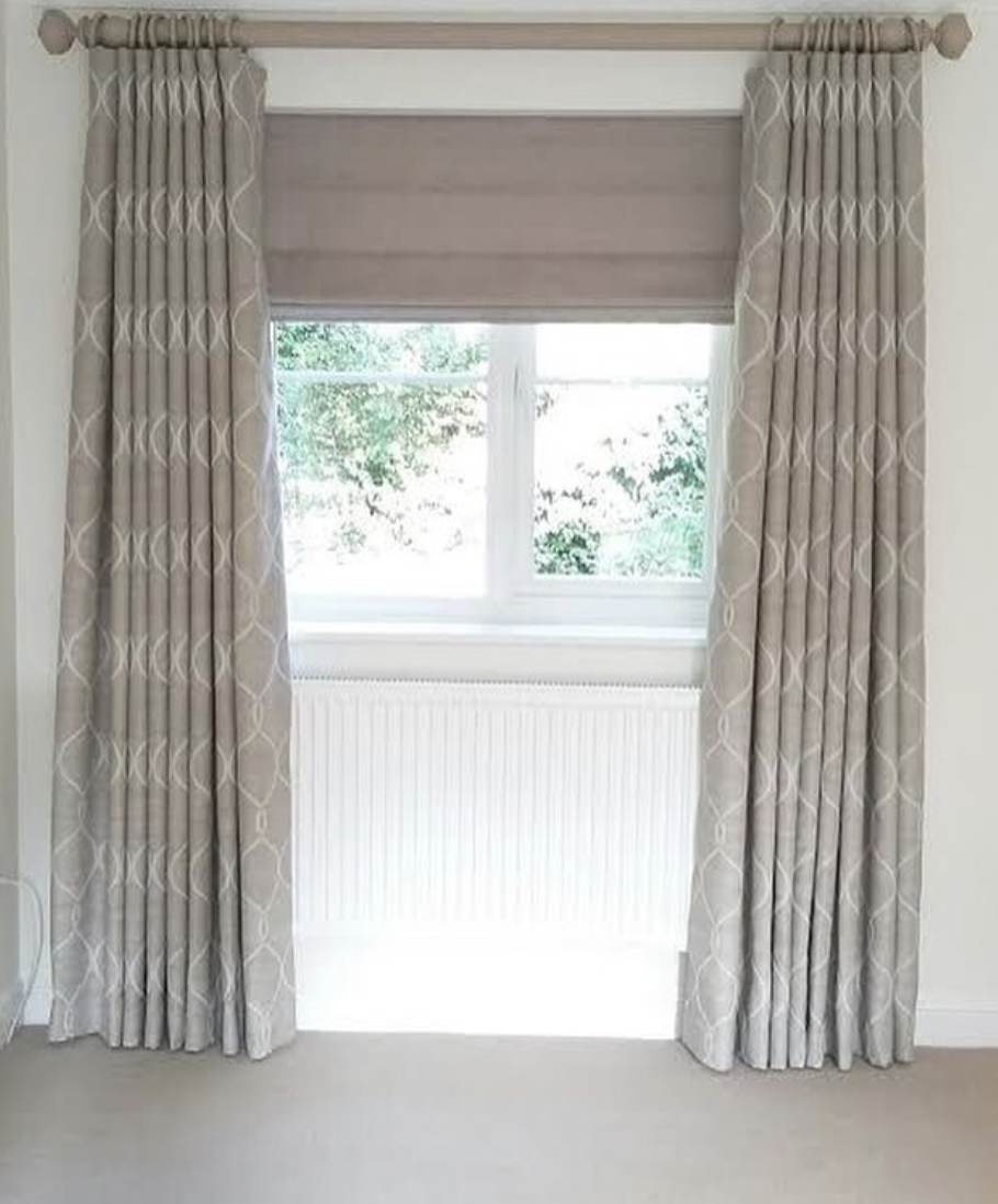 Curtains and Roman Blind