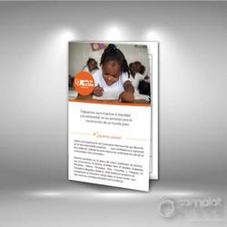 Brochure plegable a 2 cuerpos