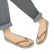 Flip flops and feet
