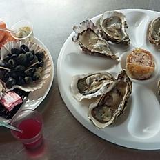Assiette dégustation 12 huîtres