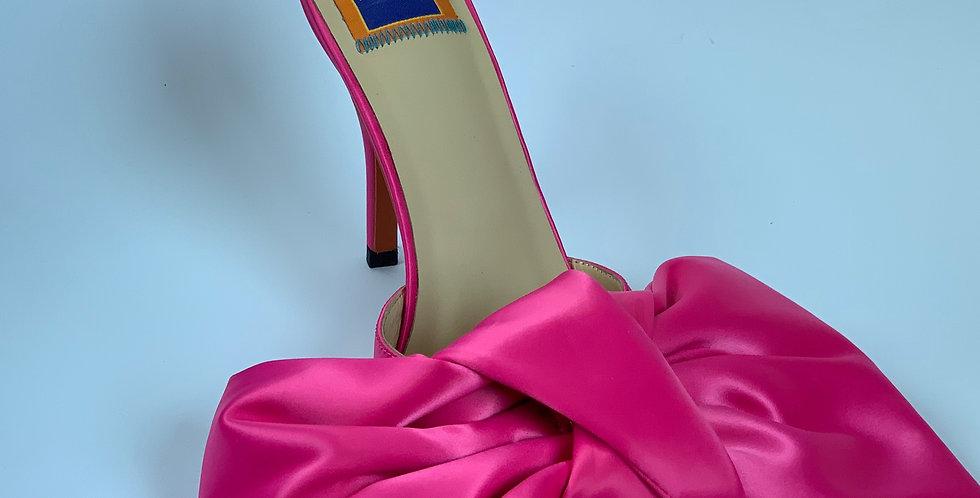Kerttu Pink Bow Mule
