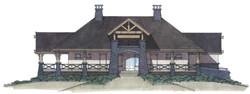Cobblestone Ranch Pool House