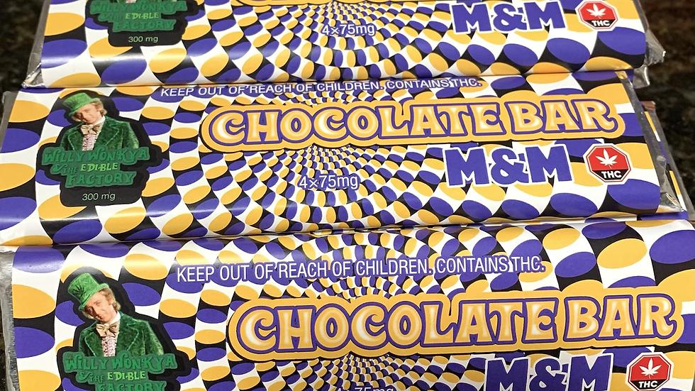 Wonka Bar 300 mg M&m (Find gold sticker win 1 OZ )