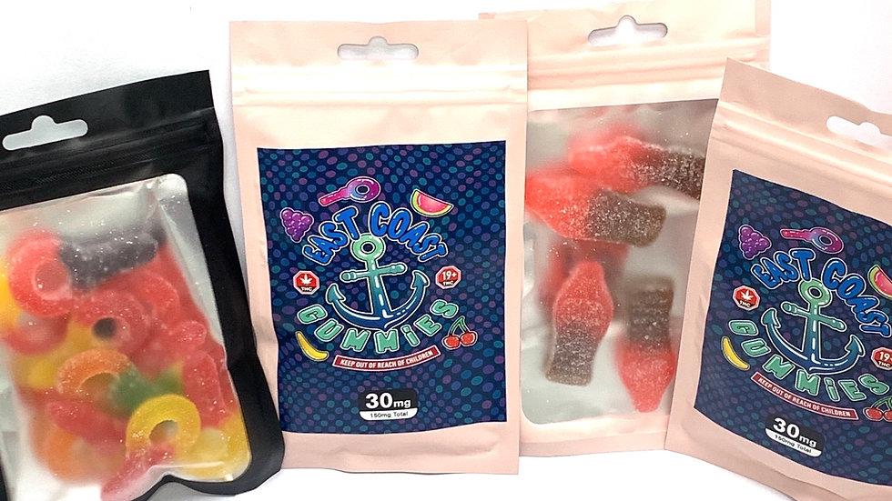East Coast Gummies  150mg (assorted flavors )