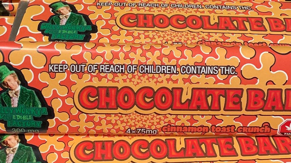 Wonka Bar 300mg Cinamon Crunch (Find gold sticker win 1 OZ )