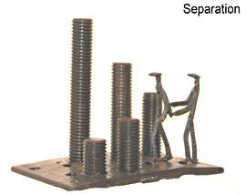 """December 2008 RR track scrap, miniature RR spikes, machine tool parts 14"""" x 9"""" x 12"""" 40 lbs."""