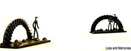 "March 2008 Ring gear, ball bearings, miniature RR spikes 14"" x 8"" x 8"" (each piece) 80 lbs."