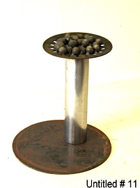 "October 2010 Scrap from machine shop, ball bearings, part of an automobile clutch 13"" diameter x 15"" height 32 lbs."