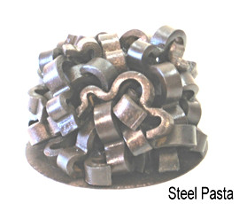 """March 2012 RR track anchors, round steel plate 9"""" x 11""""diameter 77 lbs."""
