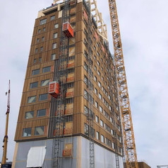 Norveç te 18 katlı CLT ahşap yapı inşaatı