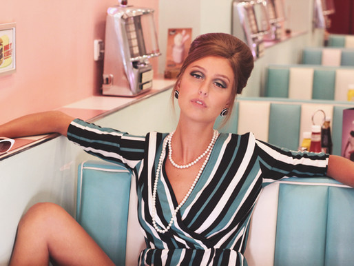 60s photoshoot at Peggy Sue's diner