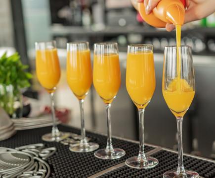 Orange juice in glasses