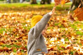 Autumn birthday photoshoot