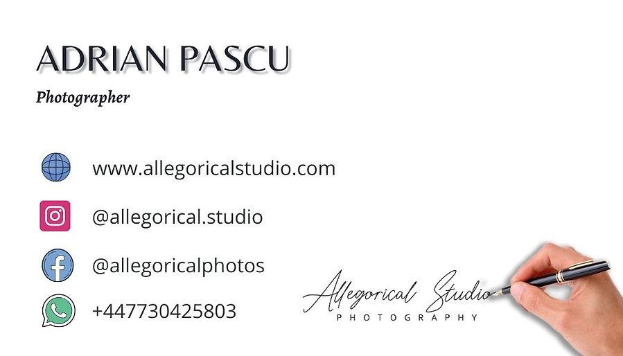 Allegorical Studio - Photographer & videographer in London. 07730425803