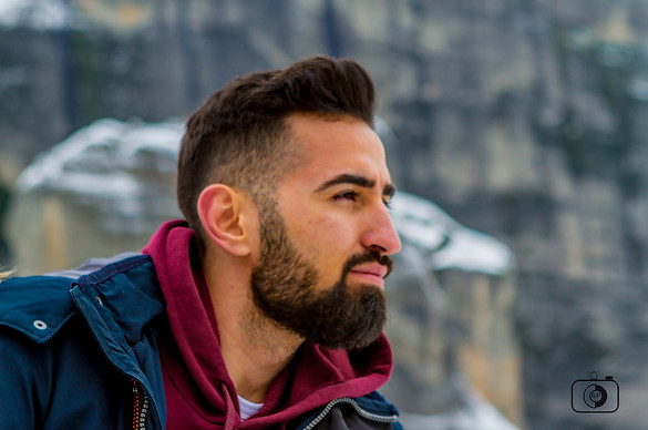 Bearded man in Greece