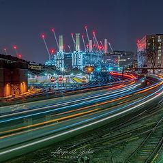 Long exposure shot at Battersea Power Station